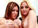 Ariel Summer & Claire Dames on herfirstdp