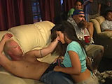 TV and a blow-job - V2 on collegewildparties