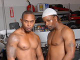 Rogue & Rudy Ebony on hisfirsthugecock