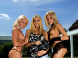 Anita Pearl & Caty Campbel & Clara G on gangbangjunkies