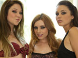 Lexi Bell Jessie Andrews & Allie Haze on herfirstlesbiansex
