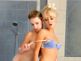 Angel Piaff & Victoria Puppy on herfirstlesbiansex
