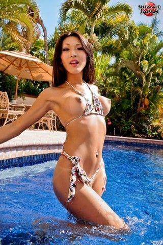 Karina in Hawaii! on shemalejapantbms