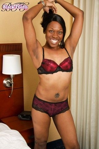 Shay in Sexy Lingerie on blacktgirlstbms