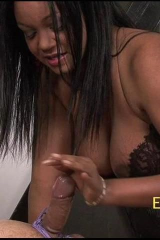 Ebony cock tease