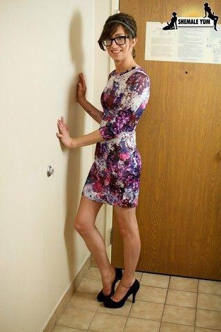 Sexy Brielle Bop in Dress on shemaleyumtbms