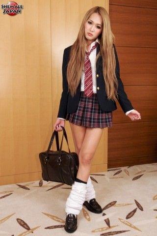 Beni The Naughty Schoolgirl! on shemalejapantbms