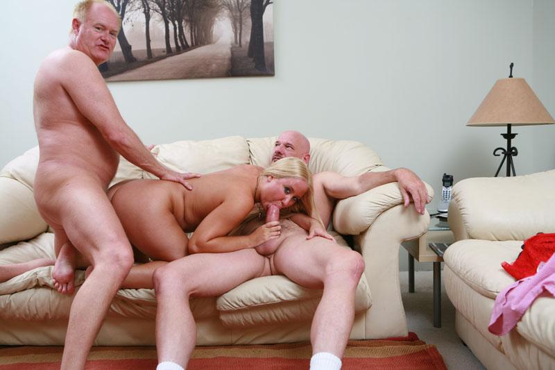 Young man fucks mature couple