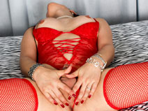 Chica Lima in Red on shemaleyumtbms