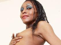 Poursha And The Dildo. on blacktgirlstbms