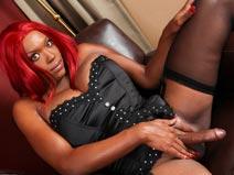 Sexy Redhead Dakotah Dixie! on blacktgirlstbms