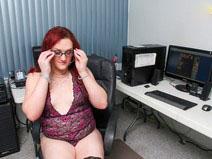 BBW Secretary Nathalie Presley! on shemaleyumtbms