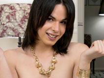 Meagan Ortiz Strokes Her Hard Cock! on shemaleyumtbms