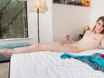 Shyvie Shiv Strokes Her Big Cock! on shemaleyumtbms