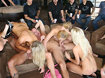 Lapping Lesbians on orgysexparties